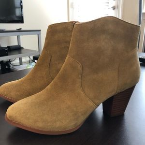 Urban Outfitters Olive Green suede booties